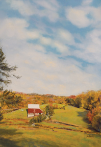 """The Sky at the Kuerner Farm"", Pastel, 36 x 24, Annette Alessi"